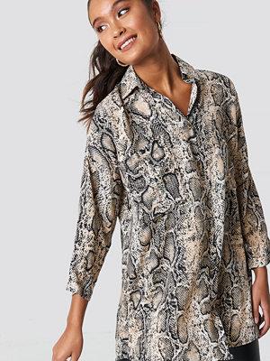 Trendyol Snakeskin Pattenerd Shirt - Skjortor