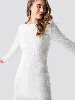 Pamela x NA-KD LS Sequin Transparence Dress - Festklänningar