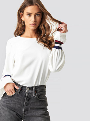 Rut & Circle Sleeve Stripe Blouse - Blusar