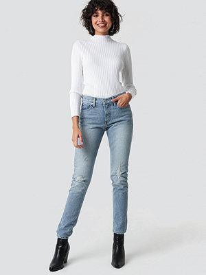 Calvin Klein Mid Rise Slim Jeans blå