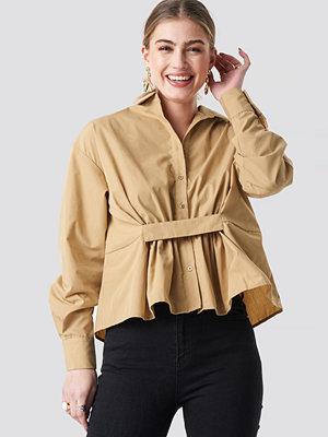 NA-KD Trend Waist Detail Oversized Shirt - Skjortor