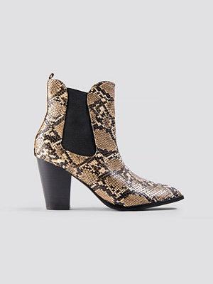 NA-KD Shoes High Heel PU Boot brun