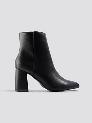 NA-KD Shoes Basic Block Heel Booties svart