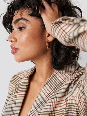 NA-KD Classic Ribbed Creole Earrings - Smycken