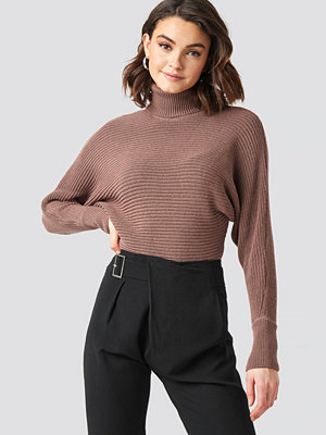 NA-KD Folded Knitted Sweater rosa