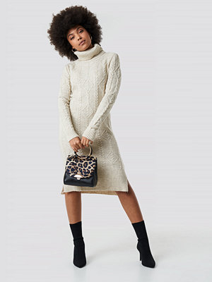 Trendyol Knitted Detail Sweater Dress beige