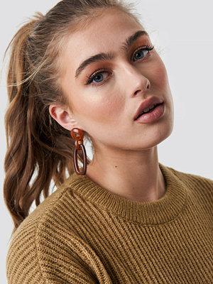 NA-KD Accessories Tortoise Square Drop Earrings - Smycken