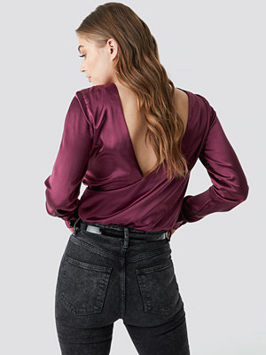 Rut & Circle Back Wrap Blouse röd