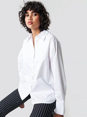 NA-KD Classic Oversized Shirt vit