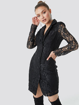 Trendyol Lace Jacket Dress svart
