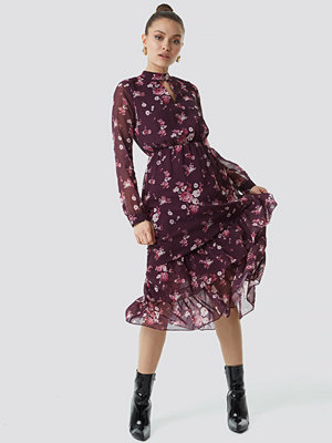 Trendyol Flower Printed Mesh Dress - Midiklänningar