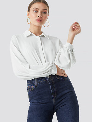 Trendyol Balloon Sleeve Shirt vit