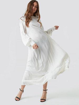 NA-KD Boho Smock Maxi Dress vit