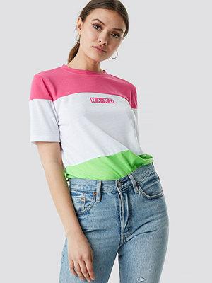 T-shirts - NA-KD Neon Panel Tee
