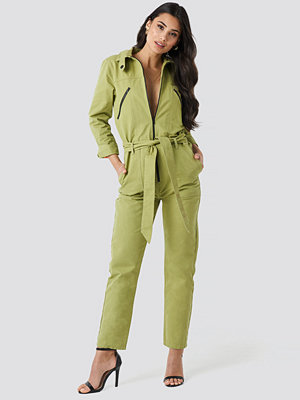 Jumpsuits & playsuits - NA-KD Utility Jumpsuit grön