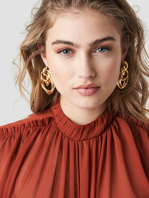 NA-KD Accessories Big Connected Ring Earrings - Smycken