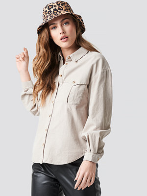 Mango Cow Shirt beige