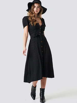 Mango Luna Midi Dress svart