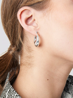 NA-KD Accessories smycke Mini Thick Hoop Earrings silver