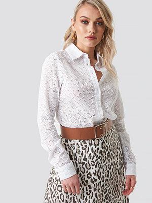 Kae Sutherland x NA-KD Lace Button Down Shirt - Skjortor