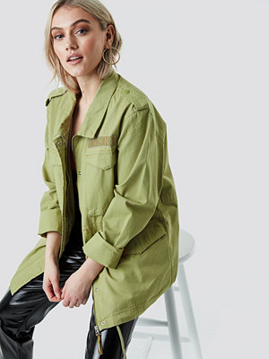 NA-KD Army Jacket grön
