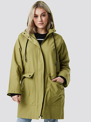 NA-KD Lightweight Hooded Parka grön
