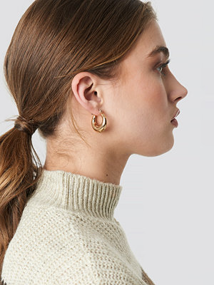 NA-KD Accessories smycke Mini Thick Hoop Earrings guld