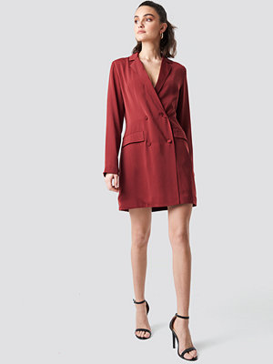 NA-KD Party Double Breasted Blazer Dress röd