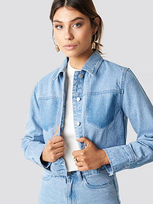 Milena Karl x NA-KD Washed Denim Jacket blå