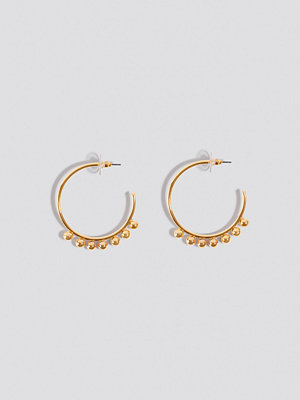 NA-KD Accessories Mini Globe Detailed Hoops - Smycken
