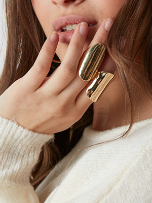 NA-KD Accessories Two Asymmetric Chunky Rings - Smycken