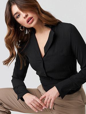 NA-KD Trend Tied Waist Shirt - Skjortor