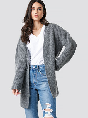 NA-KD Trend Mohair Blend Cardigan grå