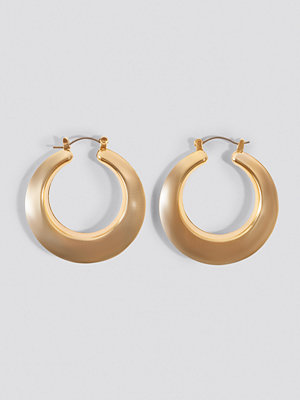 NA-KD Accessories Sharp Edge Hoop Earrings - Smycken