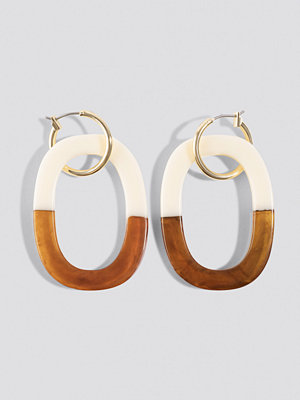 NA-KD Accessories Half Tortoise Hoop Earrings - Smycken
