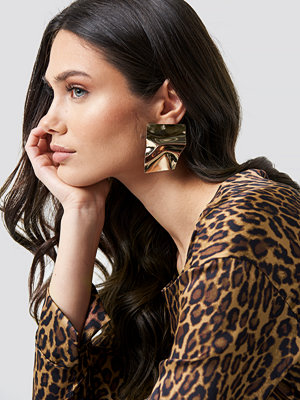 NA-KD Accessories Big Shield Earrings - Smycken
