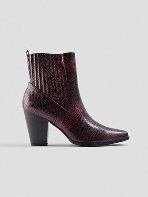 NA-KD Shoes Cowboy Boots röd
