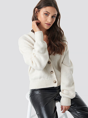 NA-KD Trend Cropped Oversized Cardigan vit