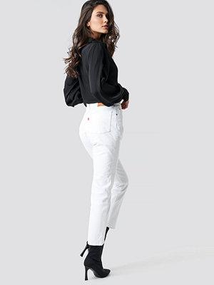 Levi's 501 Crop Jeans vit