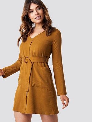 Trendyol Belted Midi Dress brun