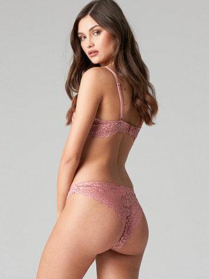 NA-KD Lingerie Raw Edge Lace Panty - Trosor