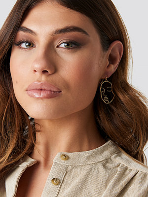 NA-KD Boho Faces Silhouette Earrings - Smycken