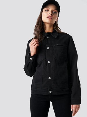 Calvin Klein Foundation Trucker Jacket svart