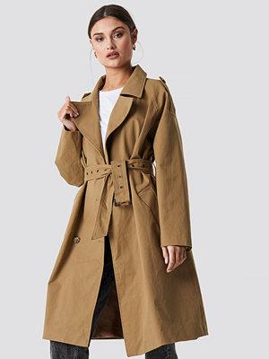 NA-KD Trend Beige Oversized Trenchcoat beige