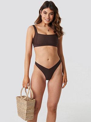 NA-KD Swimwear V Shape Bikini Bottom brun