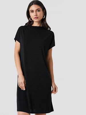 NA-KD Jersey Cap Sleeve Dress svart