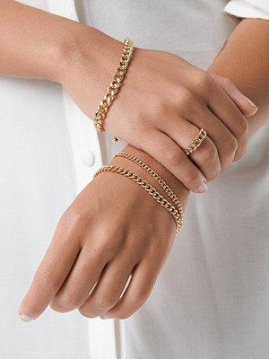 NA-KD Accessories smycke Kedjeset Med Ring Och Armband guld