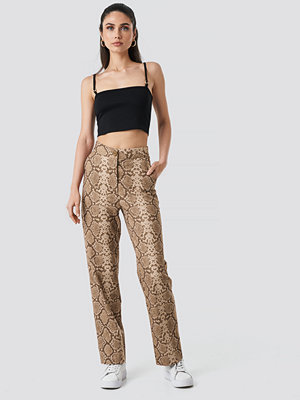 Anna Nooshin x NA-KD mönstrade byxor Straight Fit Suiting Pants multicolor