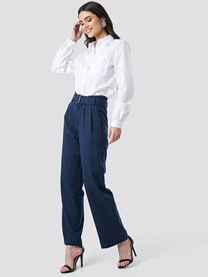 Sparkz marinblå byxor Tova Paper Waist Pants blå