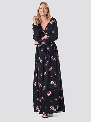NA-KD Boho Co-ord Floral Maxi Skirt svart